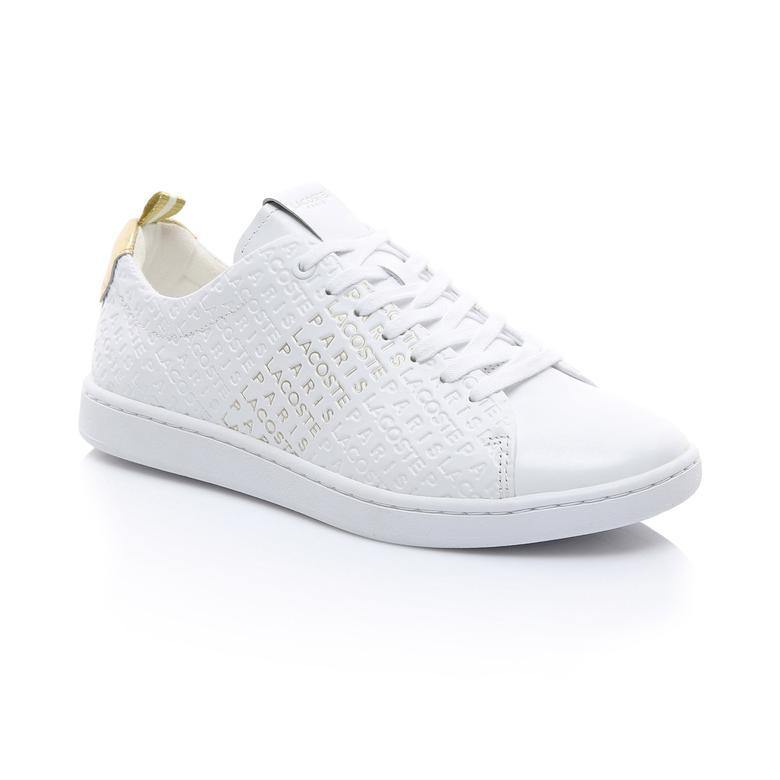 Lacoste Kadın Beyaz - Altın Carnaby Evo 119 11 Us Sneaker