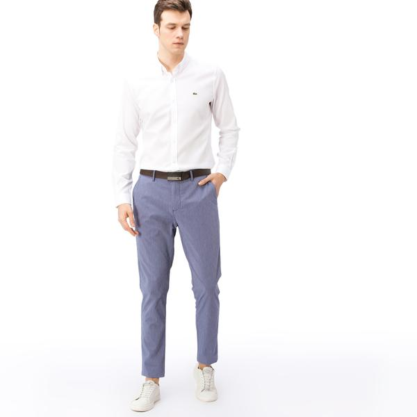 Lacoste Erkek Slim Fit Gofre Mavi Pantolon