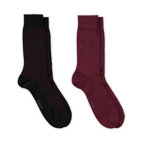 Lacoste Erkek Siyah-Bordo Çorap
