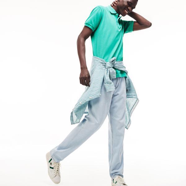 Lacoste Erkek L1212 Klasik Fit Yeşil Kısa Kollu Polo