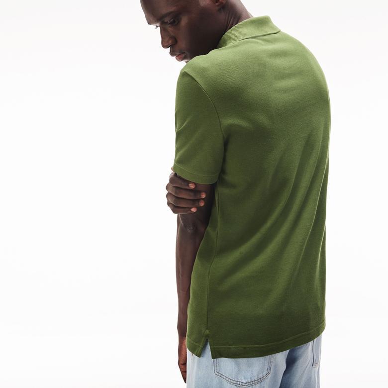 Lacoste Erkek Slim Fit Haki Kısa Kollu Polo