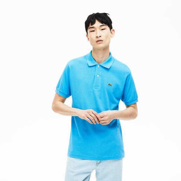 Lacoste Erkek L1212 Klasik Fit Mavi Polo