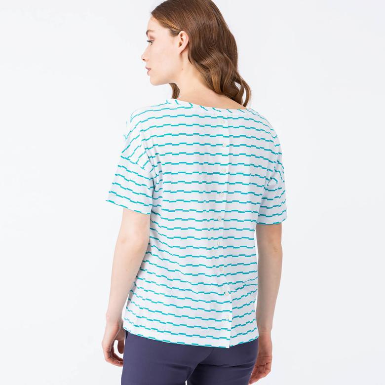 Lacoste Mavi Kadın Tshirt