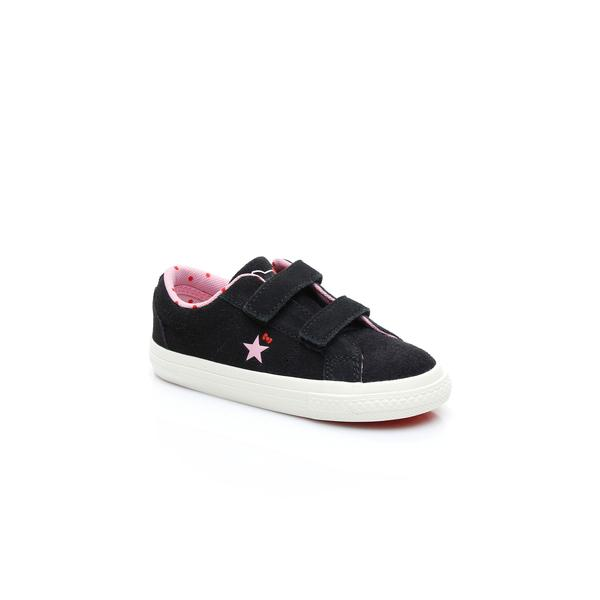 Converse x Hello Kitty One Star 2V Low Çocuk Siyah Sneaker