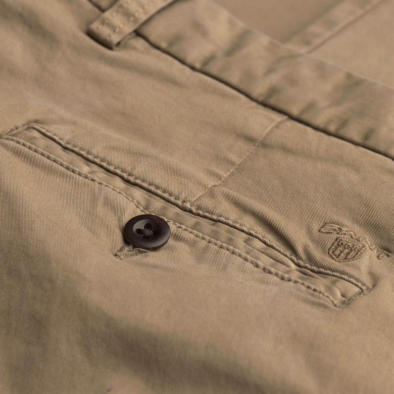 Gant Erkek Regular Fit Kahverengi Chino Pantolon