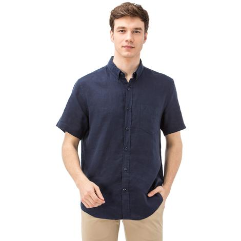 Nautica Erkek Klasik Fit Lacivert Kısa Kollu Gömlek