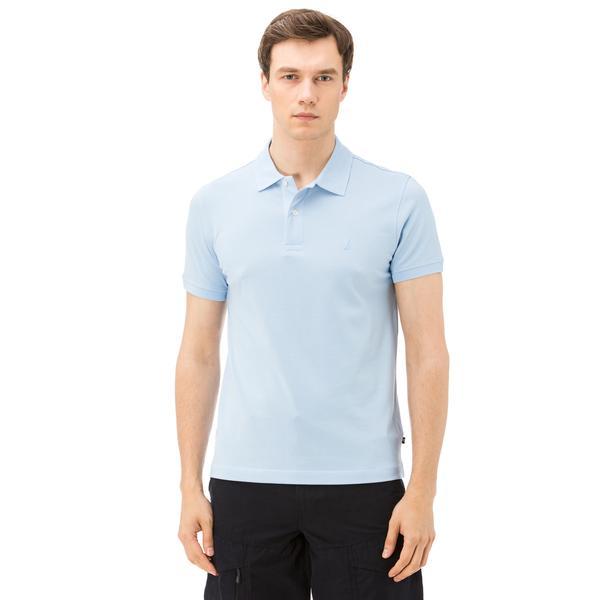 Nautica Erkek Mavi Kısa Kollu Slim Fit Polo