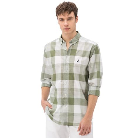 Nautica Erkek Yeşil Ekoseli Uzun Kollu Gömlek