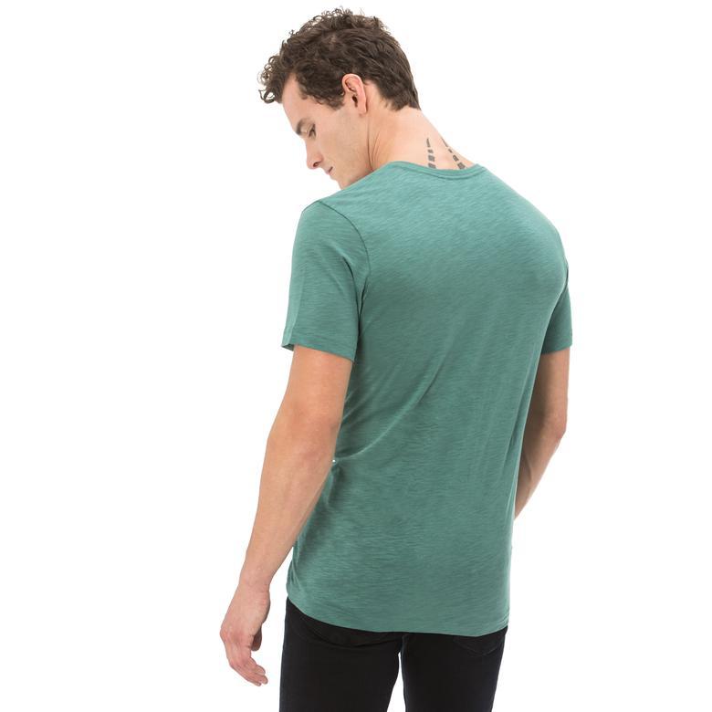 Nautica Erkek Yeşil Kısa Kollu Slim Fit T-Shirt