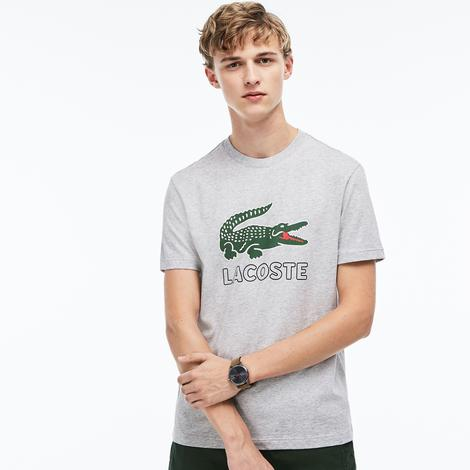 Lacoste Erkek Regular Fit Gri T-Shirt