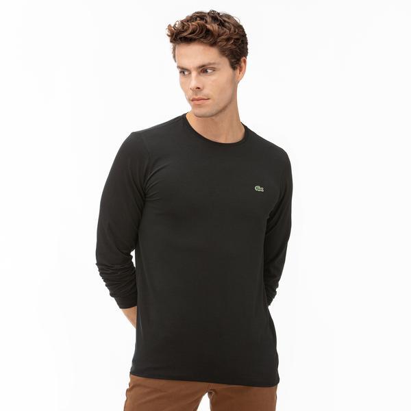 Lacoste Erkek Uzun Kollu Siyah T-Shirt