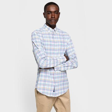 Gant Erkek Beyaz Kareli Gömlek
