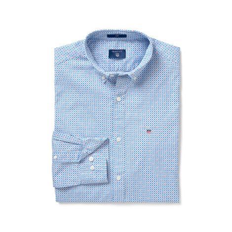 Gant Erkek Açık Mavi Slim Fit Gömlek