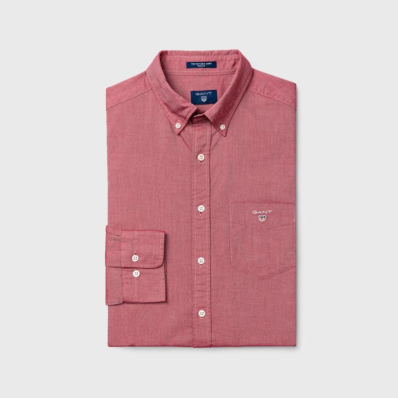 Erkek Pembe Regular Oxford Gömlek