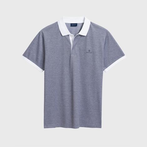 Gant Erkek Mavi Oxford Pique Rugger Polo