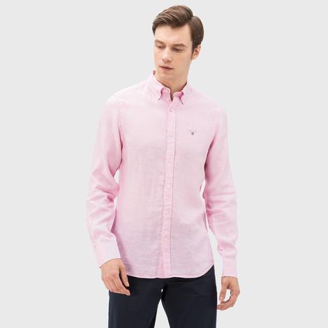 Gant Erkek Pembe Keten Slim fit Gömlek
