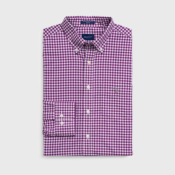 GANT Erkek Regular Fit Broadcloth Kareli Gömlek