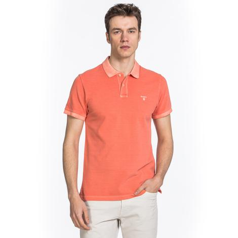 Gant Erkek Turuncu Regular Fit Piqué Rugger Polo