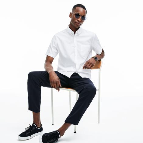Lacoste Erkek Klasik Fit Beyaz Gömlek