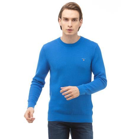 Gant Erkek Mavi Regular Fit Triko
