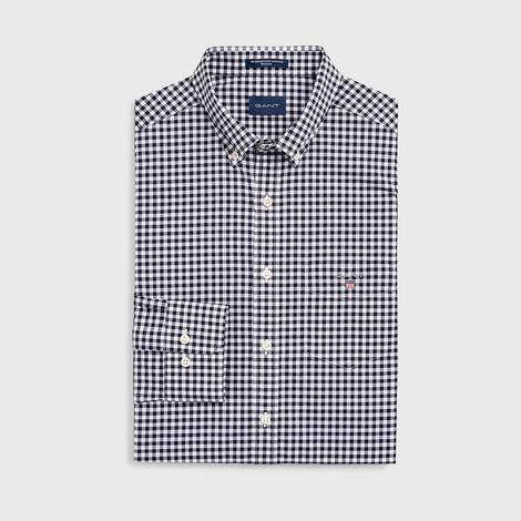 Gant Erkek Lacivert Regular Fit Broadcloth Kareli Gömlek