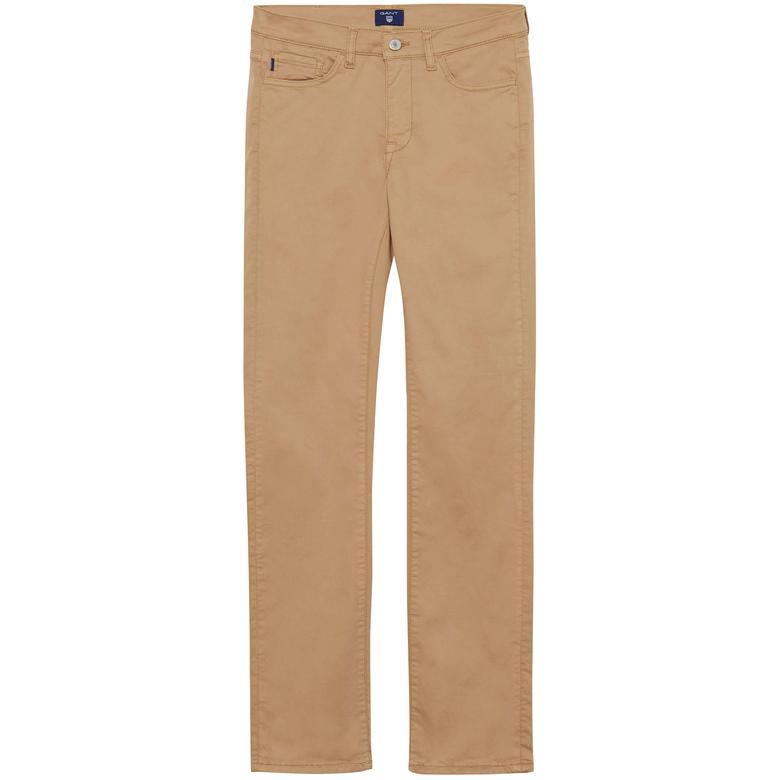 Gant Kadın Regular Fit Bej Jean Pantolon