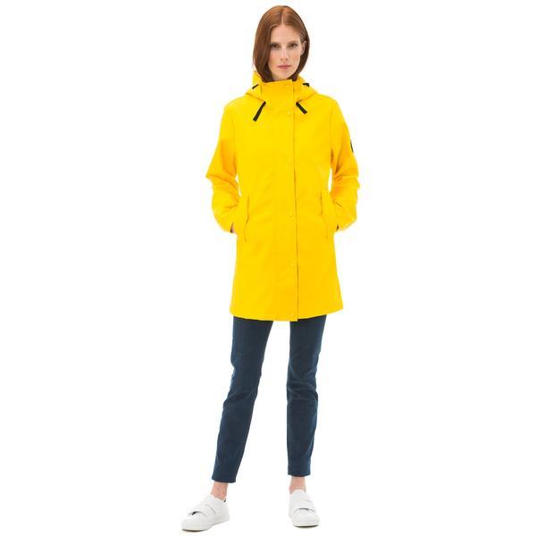 Nautica Kadın Sarı Kapüşonlu Yağmurluk
