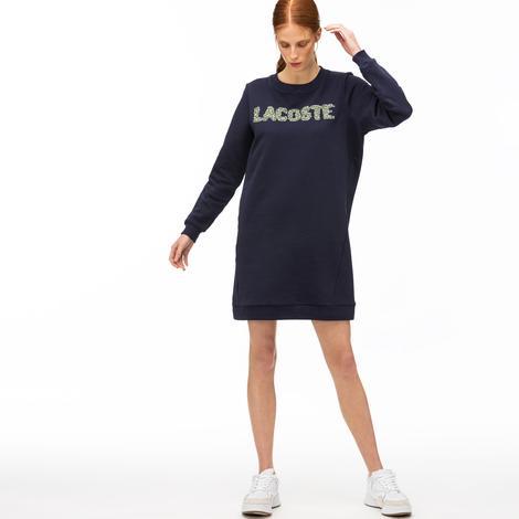 Lacoste Croco Magic Kadın Lacivert Elbise
