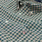 Gant Erkek Yeşil Kareli Oxford Regular fit Gömlek
