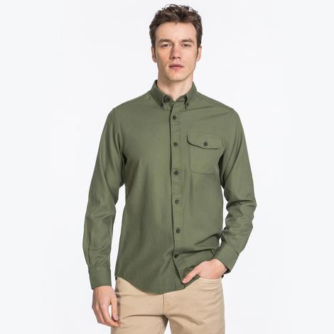 GANT Erkek Yeşil Regular Fit Gömlek