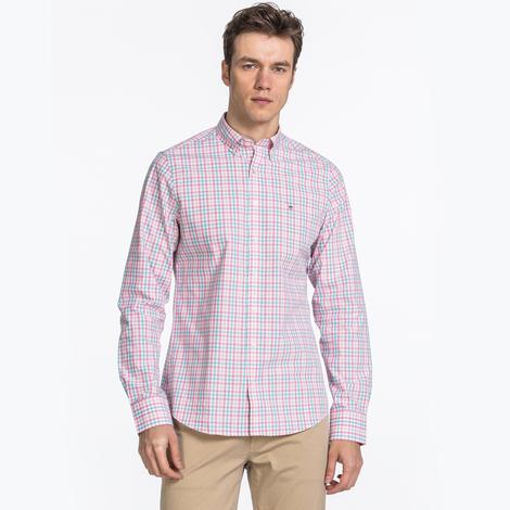 Gant Erkek Pembe Pique Slim fit Gömlek