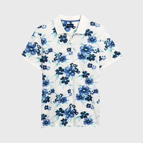 Gant Erkek Krem Rengi Regular Fit All Over Floral Piqué Rugger Polo