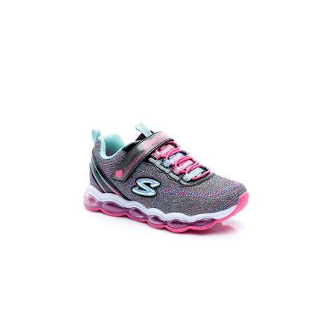 Skechers Glimmer Lights Kız Çocuk Gri - Pembe Spor Ayakkabı