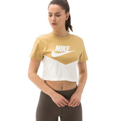 Nike Sportswear Heritage Kadın Sarı T-Shirt