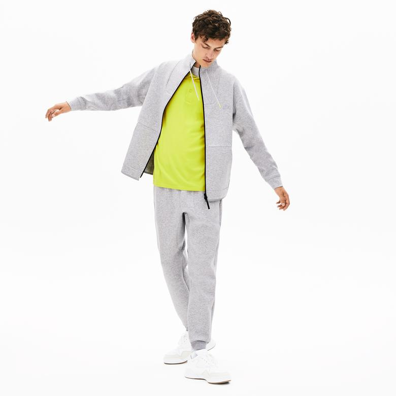Lacoste Motion Erkek Relax Fit Dik Yaka Gri Sweatshirt