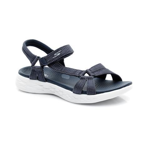 Skechers On-The-Go 600 - Brilliancy Kadın Lacivert Sandalet