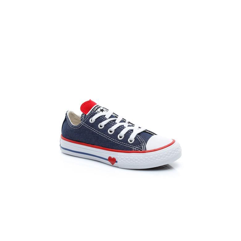 Converse Chuck Taylor All Star Denim Love Çocuk Lacivert Sneaker