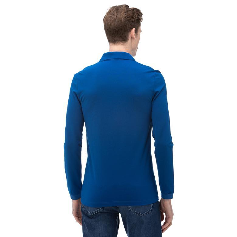 Lacoste Erkek Uzun Kollu Mavi Polo