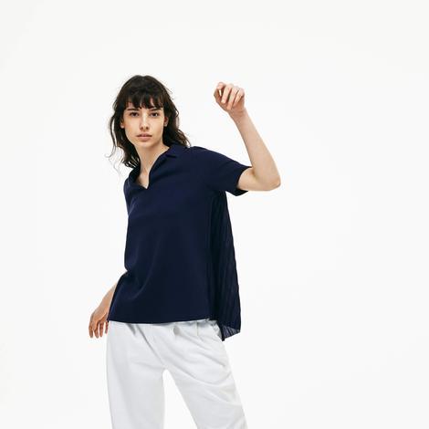 Lacoste Kadın Lacivert Kısa Kollu Polo