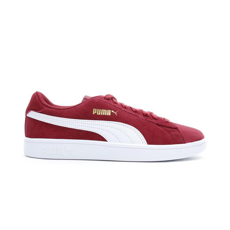 Puma Smash V2 Erkek Bordo Spor Ayakkabı
