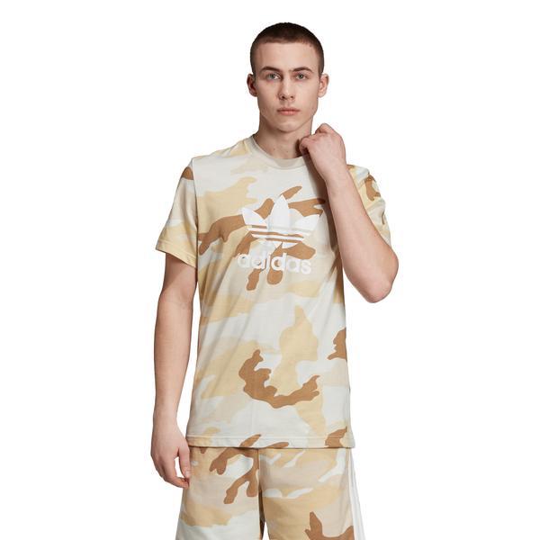 adidas Camo Trefoil Kahverengi Erkek T-Shirt