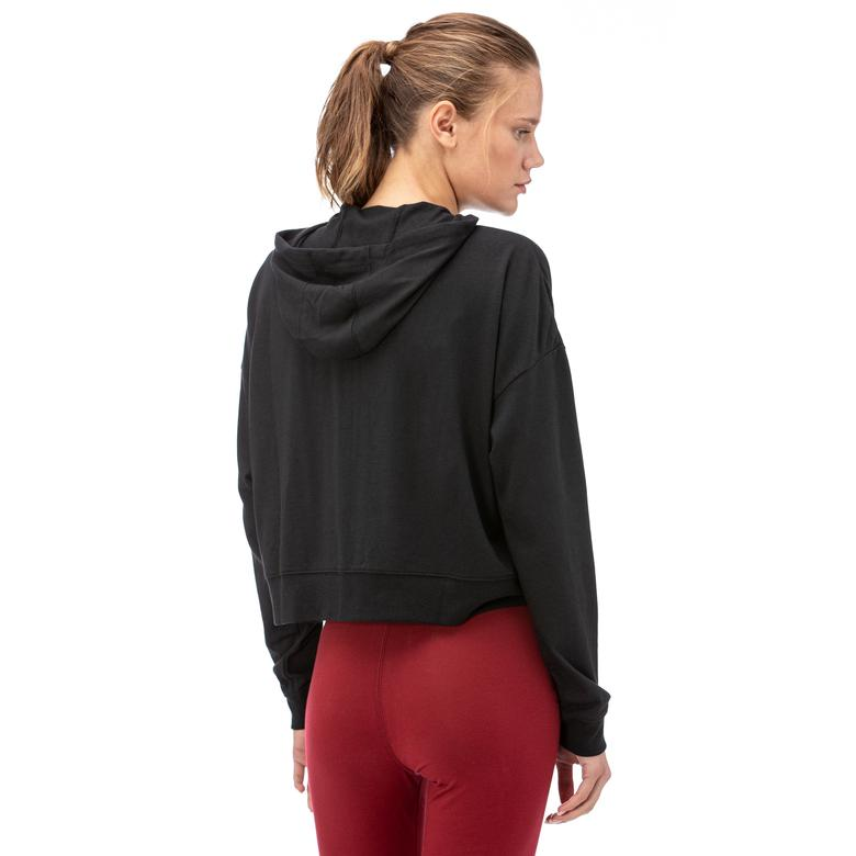 Nike Hoodie Fz Jrsy New Kadın Siyah Fermuarlı Sweatshirt