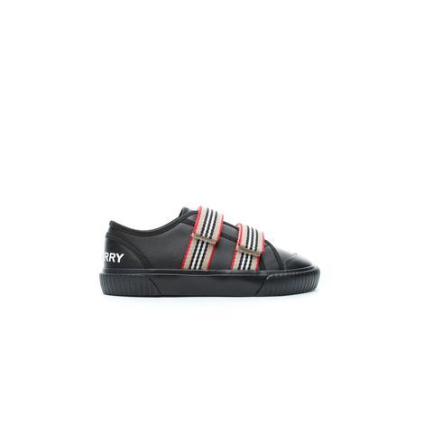 Burberry Çocuk Çift Bantlı Siyah Sneaker