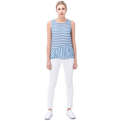 Nautica Kadın Beyaz Denım Slim Fit Pantolon