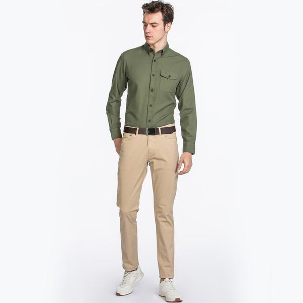 GANT Erkek Bej Slim Fit Denim Pantolon