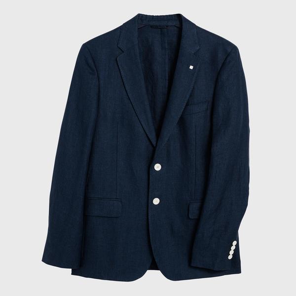 Gant Erkek Lacivert Keten Blazer Ceket