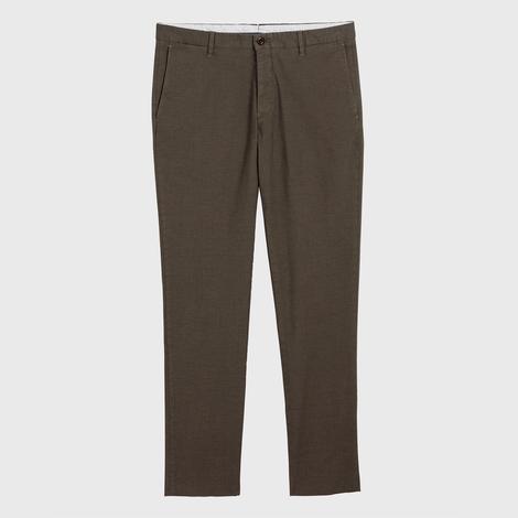 Gant Erkek Haki Slim Fit Signature Weave Baskılı Pantolon