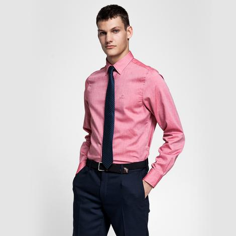 Gant Erkek Kırmızı Slim Fit Tech Prep Oxford Gömlek