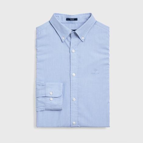 Gant Erkek Mavi Regular Fit Tech Royal Oxford Gömlek