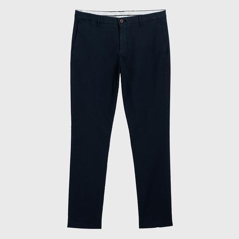 GANT Erkek Lacivert Slim Fit Signature Weave Baskılı Pantolon